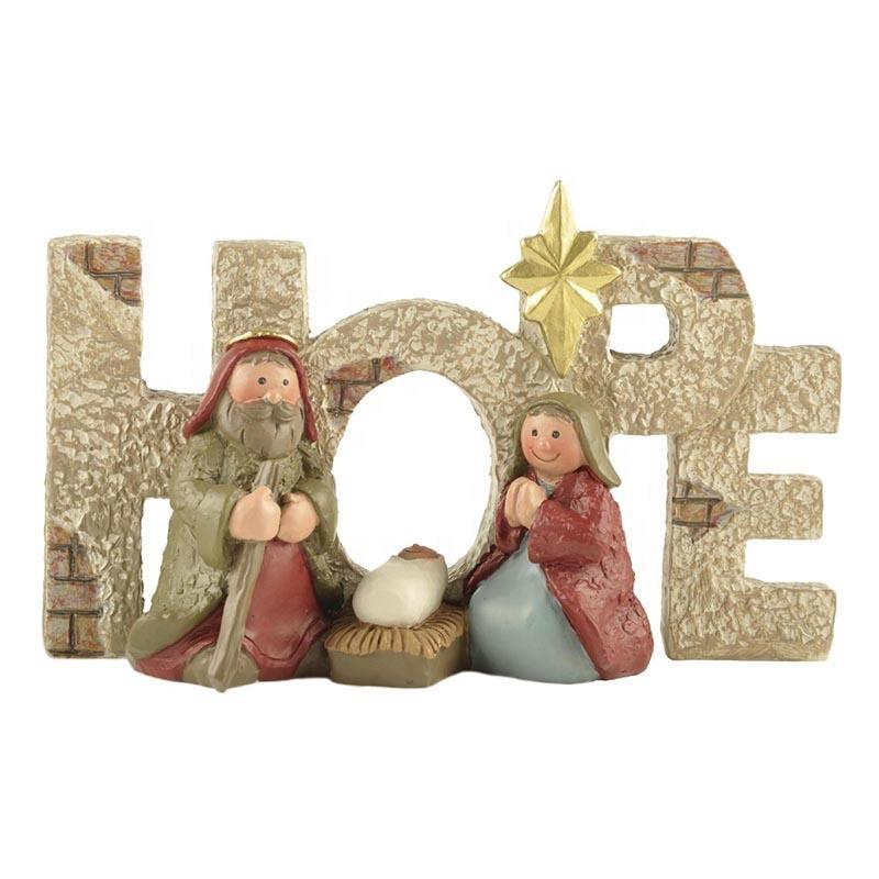 Stock Supply Polyresin Christian Holy Family Statue Religious Figurines
