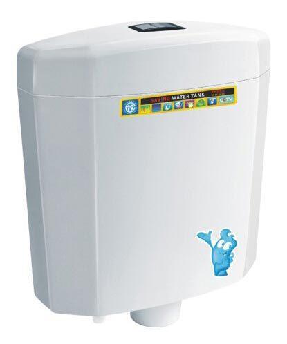 Modern PVC square double wall toilet tank