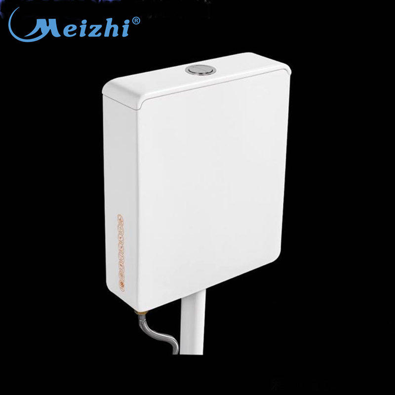 Eco-friendly gravity flushing ceramic double flush wall hung tank upper toilet cistern