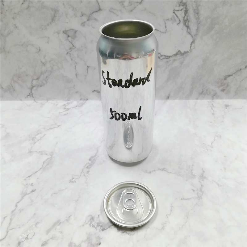 Wholesale food grade empty blank Aluminum Can 500ml Without Print for Craft Beer Brewery