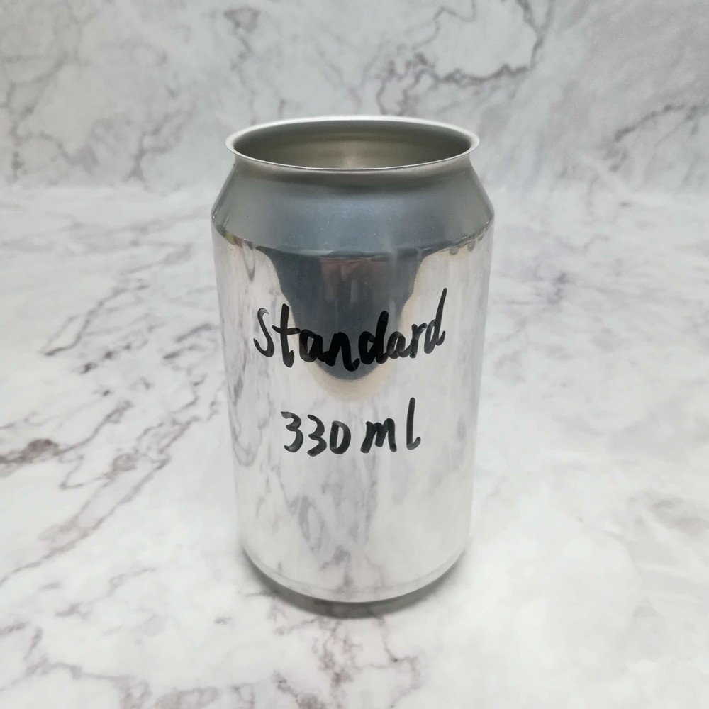 Wholesale food grade empty blank Aluminum Can 330ml Without Print for Craft Beer Brewery