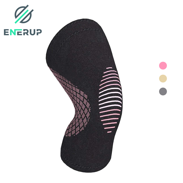 Enerup Sports Knee Protector Protective Calf Spring Joint Safety Support Brace Professional Knee Support
