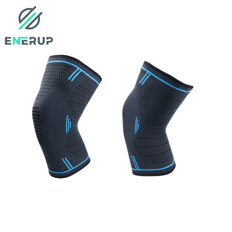 Enerup knitted braces private label knee protector sleeve compression sleeve support brace basketball