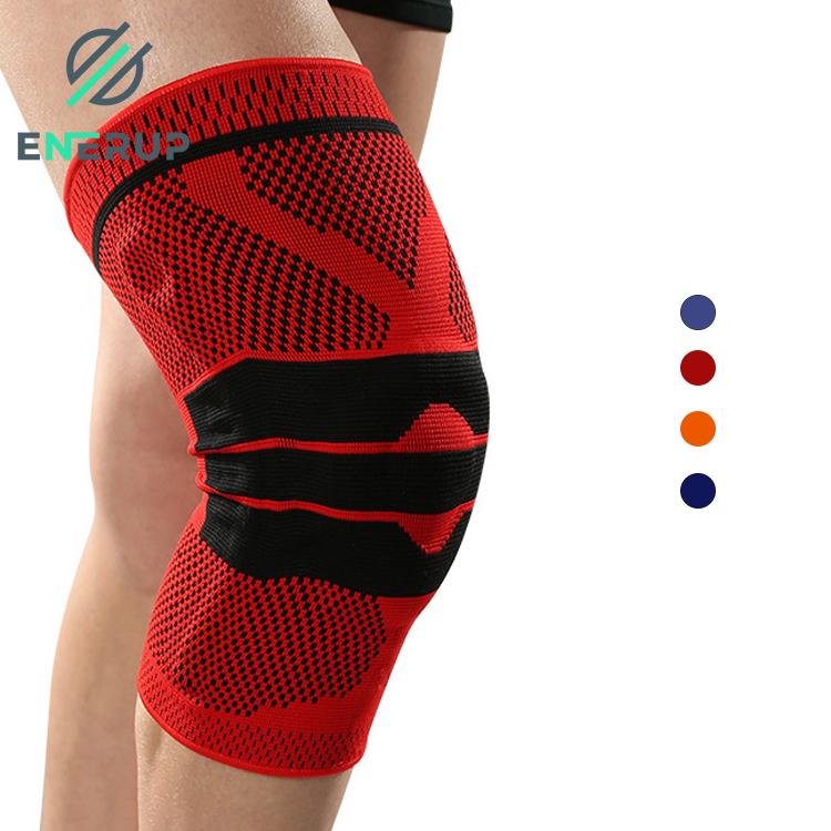 Enerup Sport Snowboard Tactical Sponge Spandex Elastic Powerlifting Knee Pads Sleeve Brace Belt