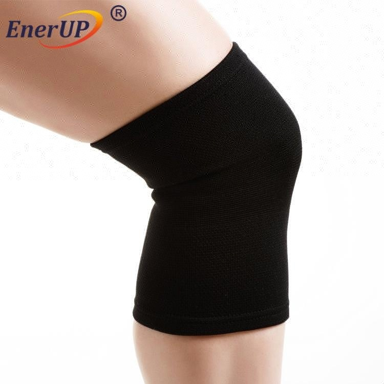 stretch elastic new knitting copper compression recovery knee sleeve brace support