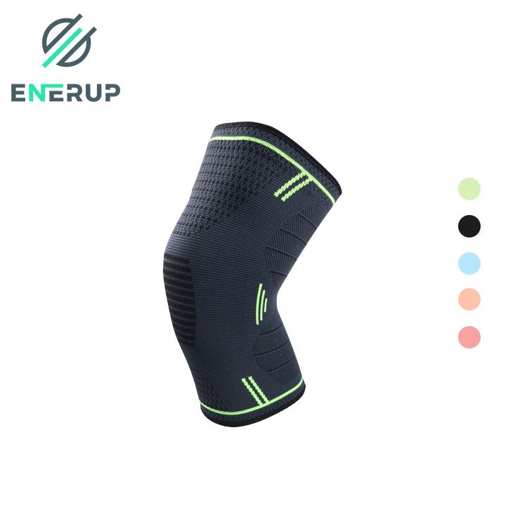 Enerup nylon rodillera elastica penyangga lutut knittedknee compression sleeve support brace sports