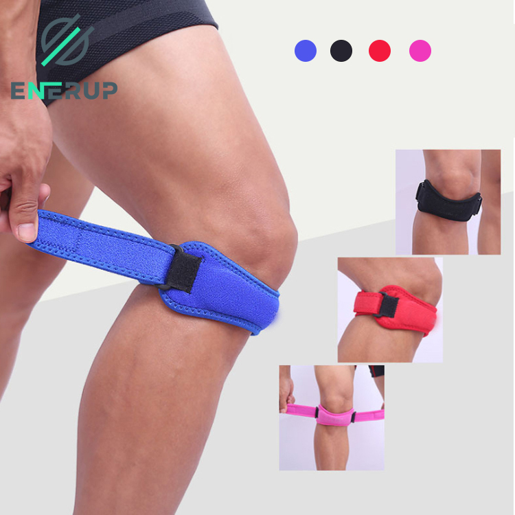 Eenerup Pain Relief Open Patella Rodillera Volley Support Brace Straps Volleyball Knee Pads for Running Hiking