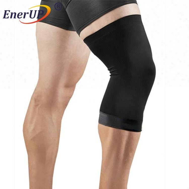 Spandex Nylon Copper compression knee sleeve protector for Running