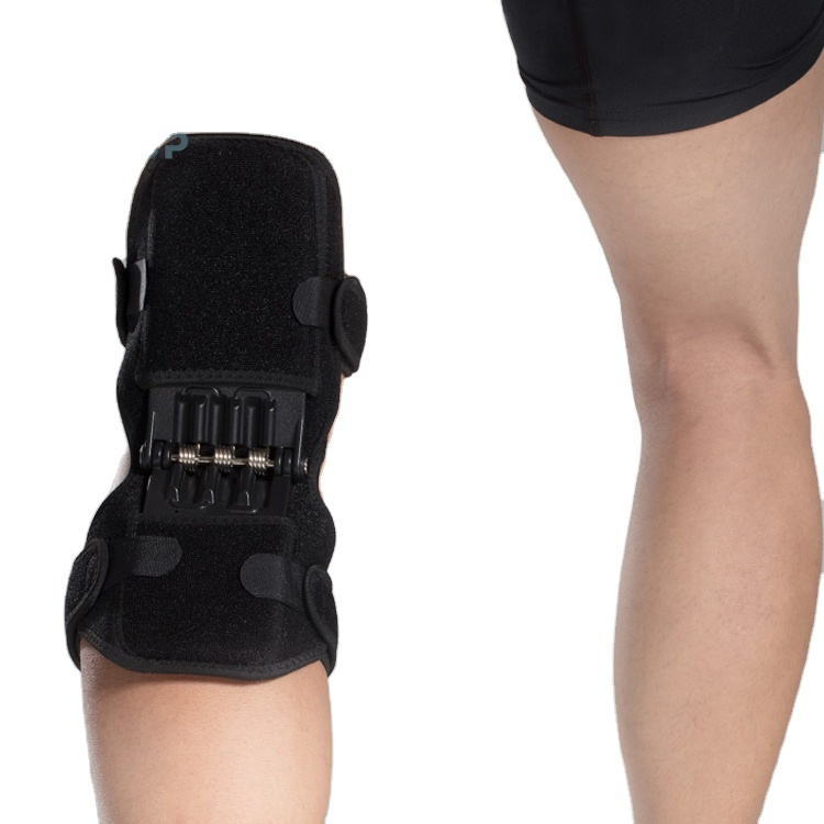 Enerup open patella spring neoprene gel pads knee wraps sleeve support brace with side stabilizers & wrap