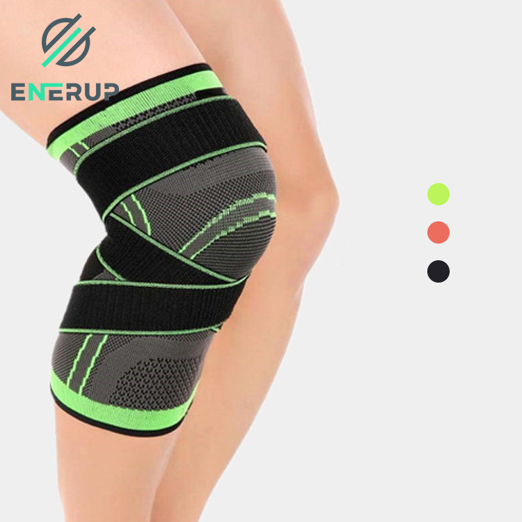 Enerup Strong Thermal Stretchable Stretchable Spring Knee Support Pads Ultra Flex Athletics Compression Sleeve