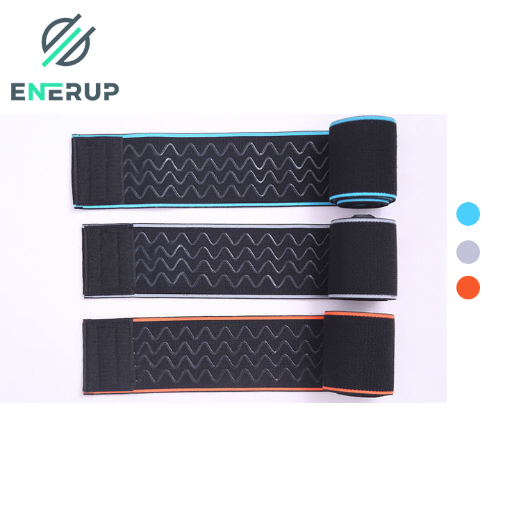 Enerup nylon latex silk lifting cross fit silicone pain relief knee wraps support brace