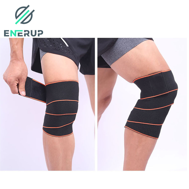 Enerup Knitting Leg Knee Support Breathable Patella Strap Wrap Slimming Calf Knee Hinges Sleeve Supporter