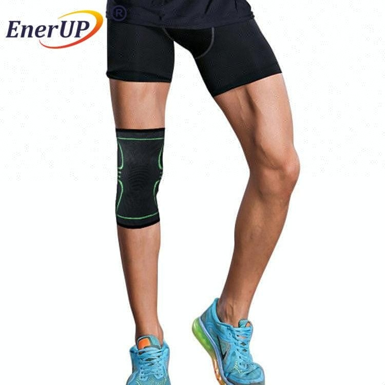 Compression knee of copper infused fabric
