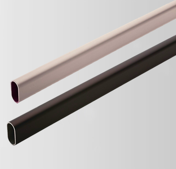 Customized extrusion aluminum flat oval tube , extruded aluminum tube