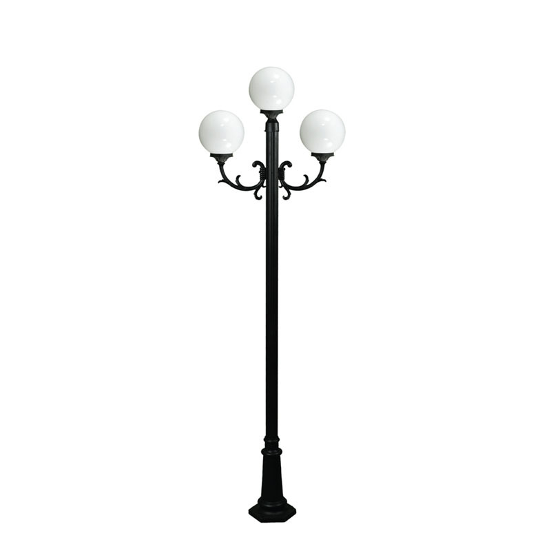 Well done solar power energy street light polel cast Aluminum Fiber Street Light Pole