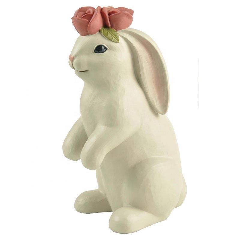 2020 Hot Design Resin Rabbit Statues Standing Animal Sculpture