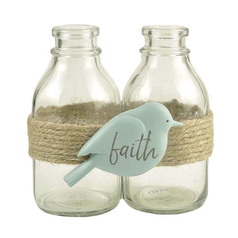 Desktop Decoration Faith Bird 2 Bottle 3D Resin Epoxy Resin Products Pet Memorial Wind