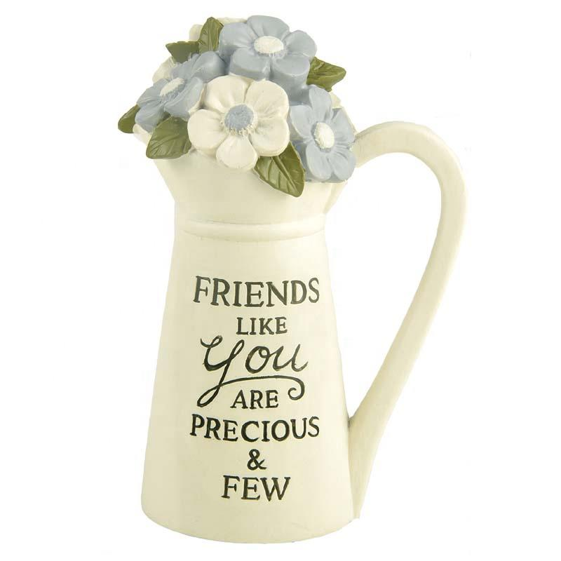2020 Resin Figurine Custom WHITE PITCHER WITH FLOWERS -