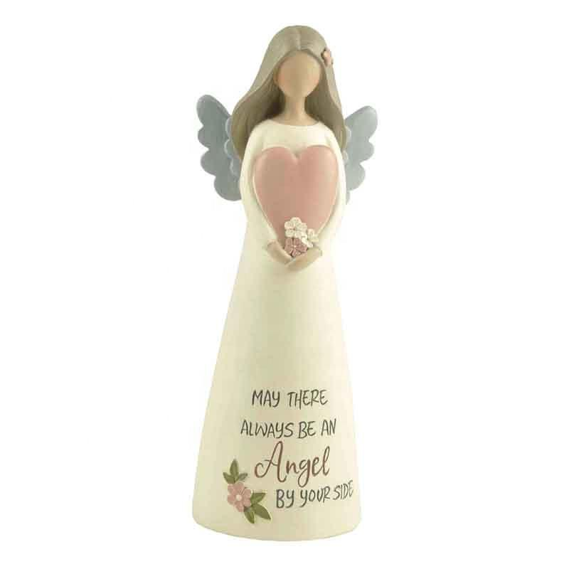 2020 Hot Sale Resin Figurines Angel Statue wwith Heart
