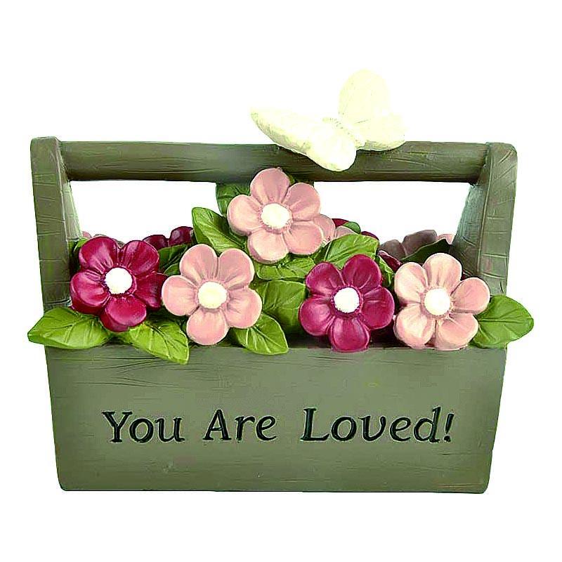 2020 Custom Resin Square Kit Flower Pot Decor - You Are Loved