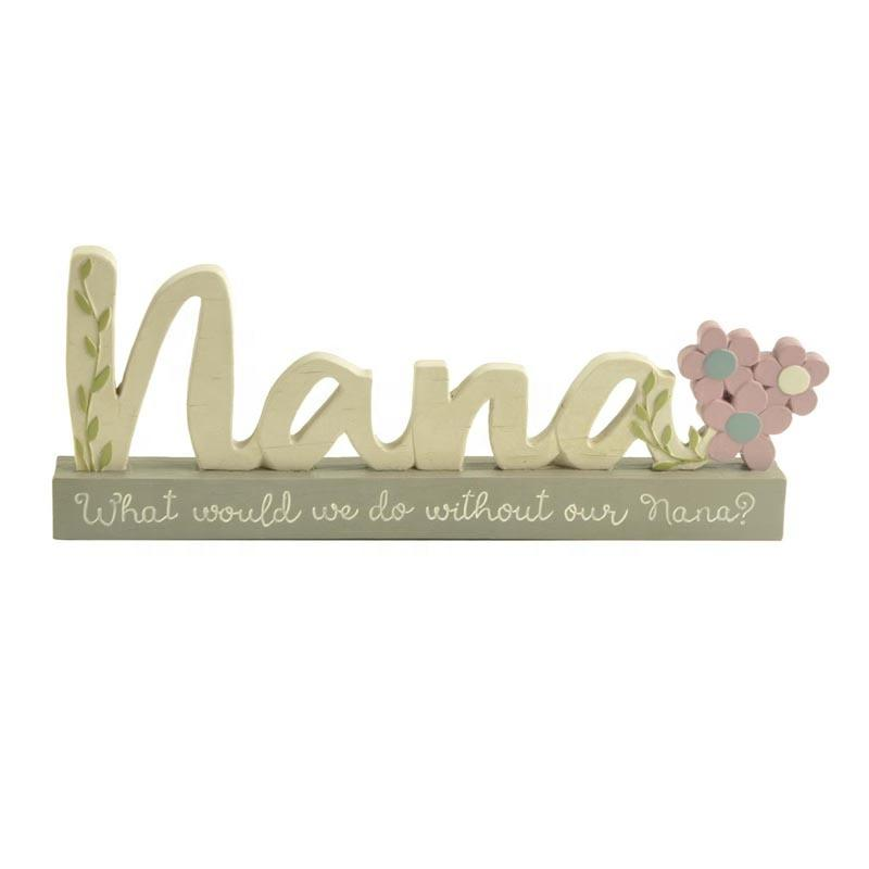 Hot Sales mom plaque on the base polyresin plaque for craft gift and decoration