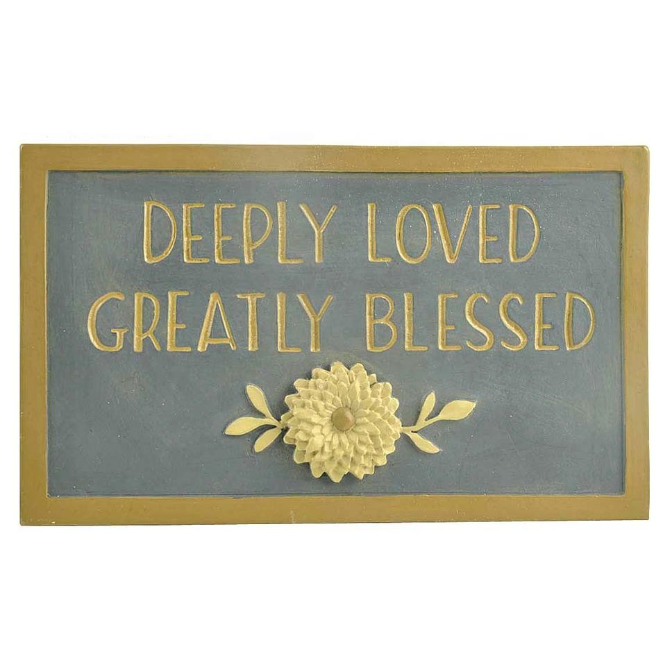 Window Display Props DEEPLY LOVED & Flower Plaque Decoration Statues Gifts & Crafts