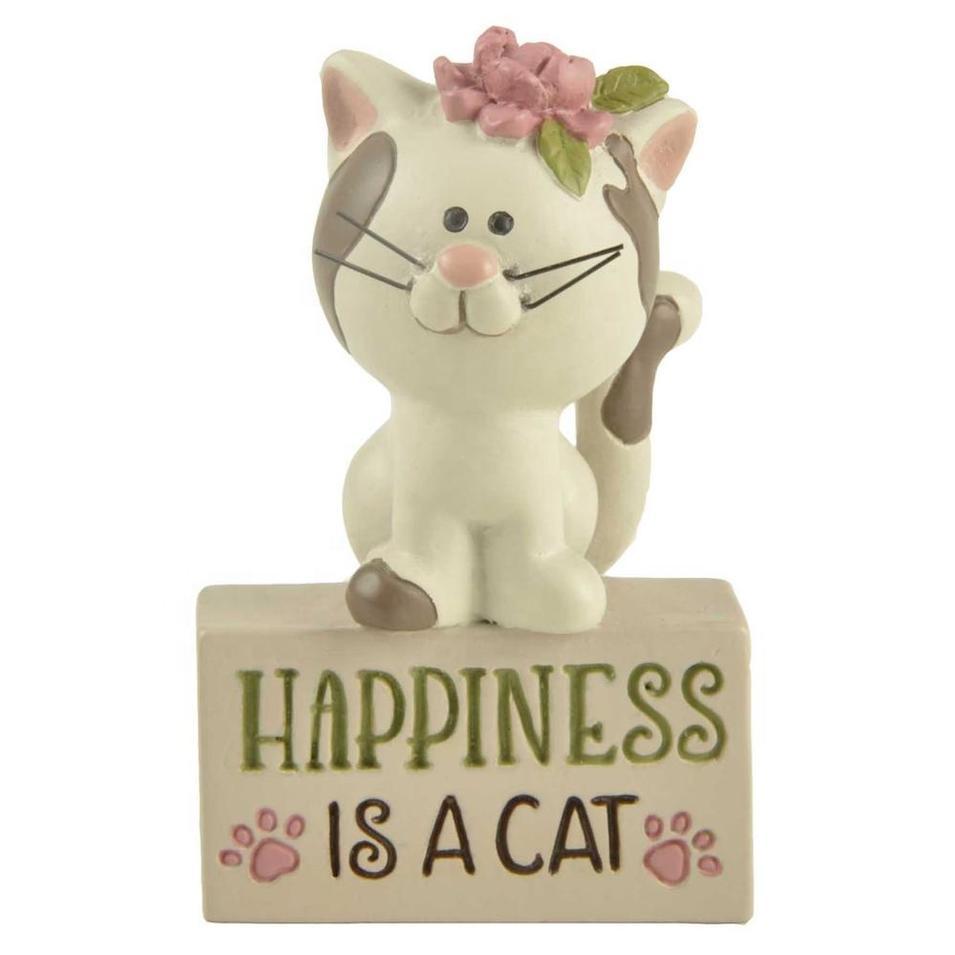 2020 New Design Custom Resin Kitten on Block Cat Animal Statue Decoration