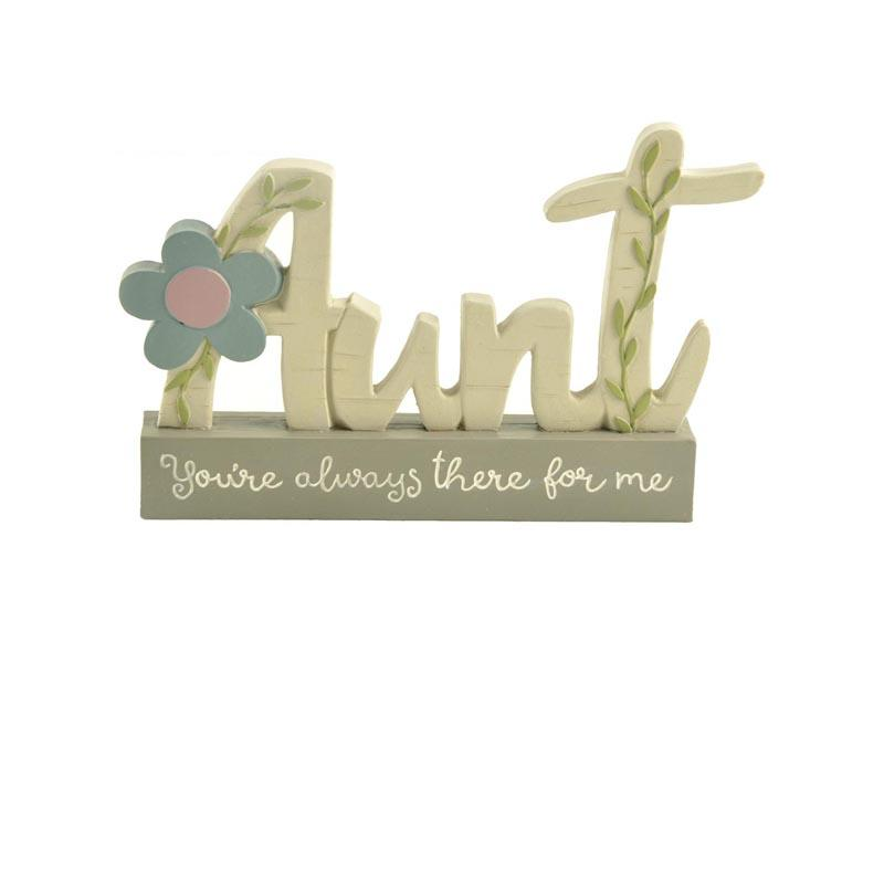Aunt plaque on the base small memo decoration home office note board polyresin crafts