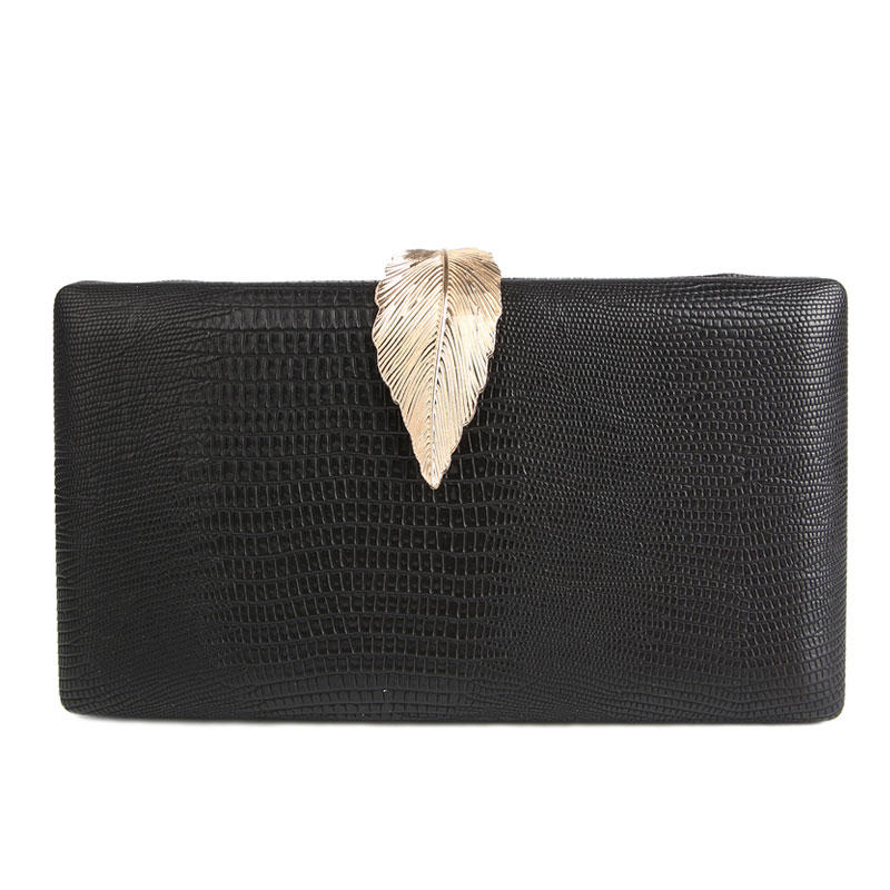 2020 New Women Black Clutch Bag Wedding Purse Leather Shoulder Bag Serpentine Evening Bags For Women Party Purse bolsa feminina