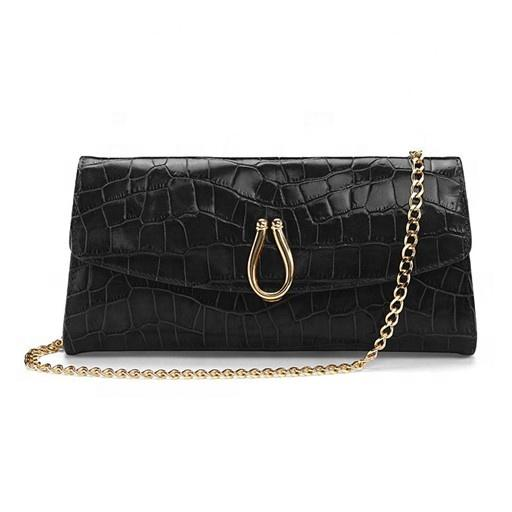 Own Brand Design PU leather women Evening Clutches Wedding Purses bags ladies Fashion Chain Embossed Pattern party money Pouch