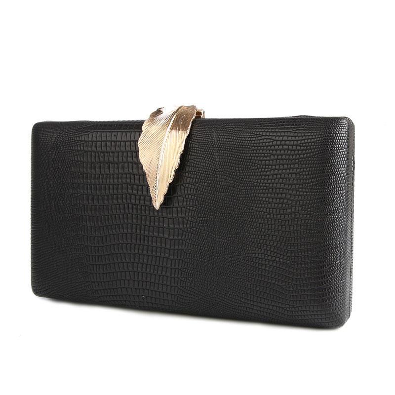 2020 New Women Black Clutch Bag Wedding Purse Leather Shoulder Bag Serpentine Evening Bags For Women Party Purse bolsa feminina