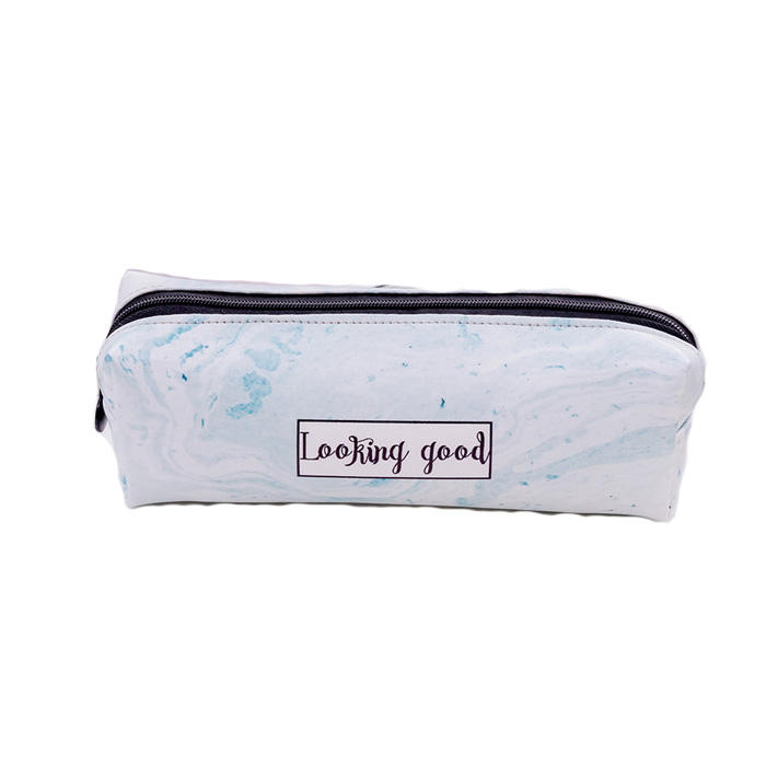 New arrival fashion Cute Pencil Case Marble Pattern PU Pen Bag Pencil Box Pencil Case Stationery Pouch Office School Supply