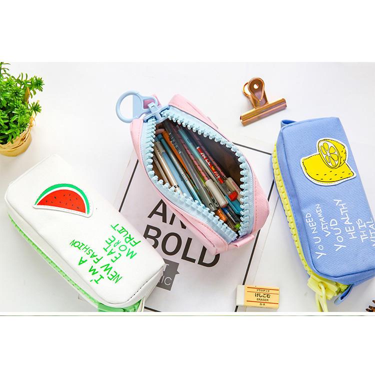 Creative Colorful Large Capacity Pencil Case Kawaii Cartoon Pen Bag Box Cute Canvas Pencil case School Stationery Supplies