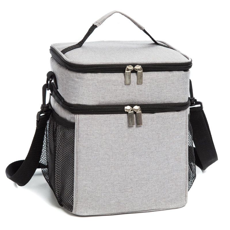 Osgoodway China Wholesale custom Logo Insulated Double Deck Wine Lunch Cooler Bag for camping ,hiking,picnic