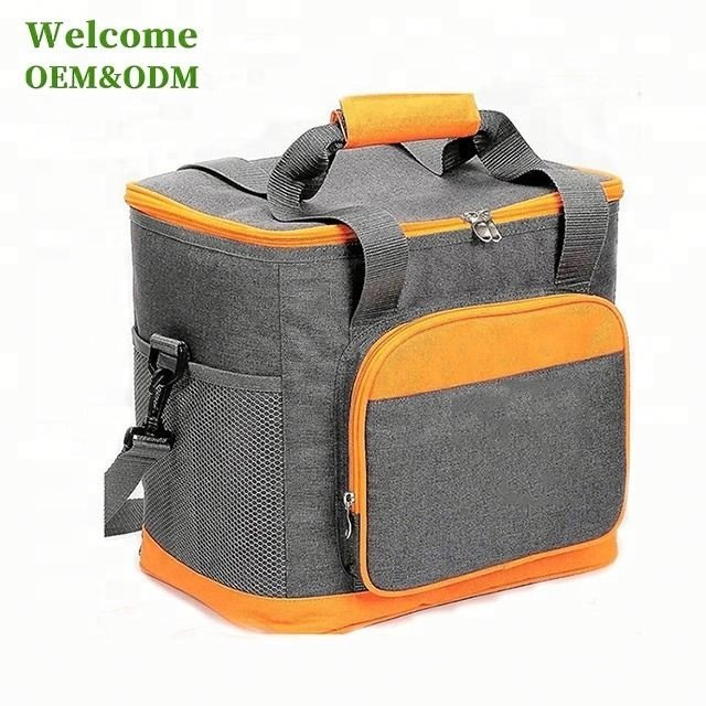 Osgoodway New Promotional Big Capacity 24 Can Custom Grey Insulated Thermal Collapsible Cooler Bag for Picnic