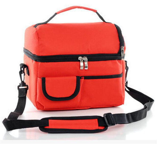 Osgoodway Hottest Sale Double-deck 8L Refreshing Ice Pack Insulated Cooler Bag Lunch Box Bag