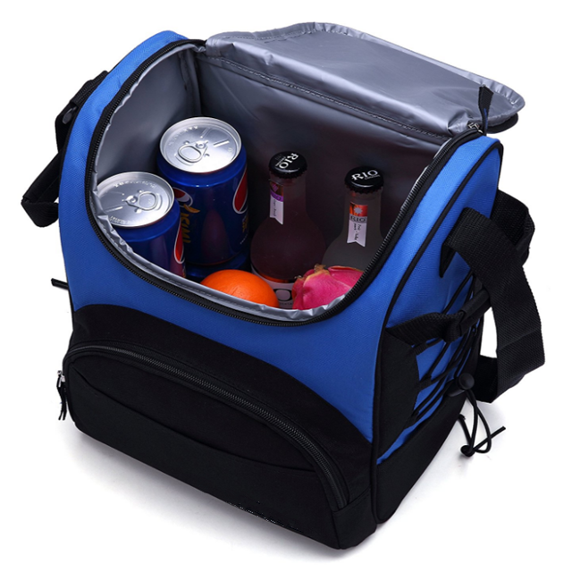 Osgoodway China wholesale Insulated Waterproof Thermal Cooler Lunch Bag with Bottle Holder for lunch travel picnic