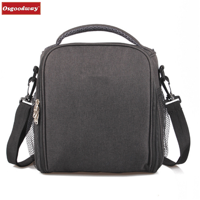 Osgoodway Double Decker 7L Insulated Solid Thermal Eco Friendly Lunch Cooler Bag Handbag for Daily Life