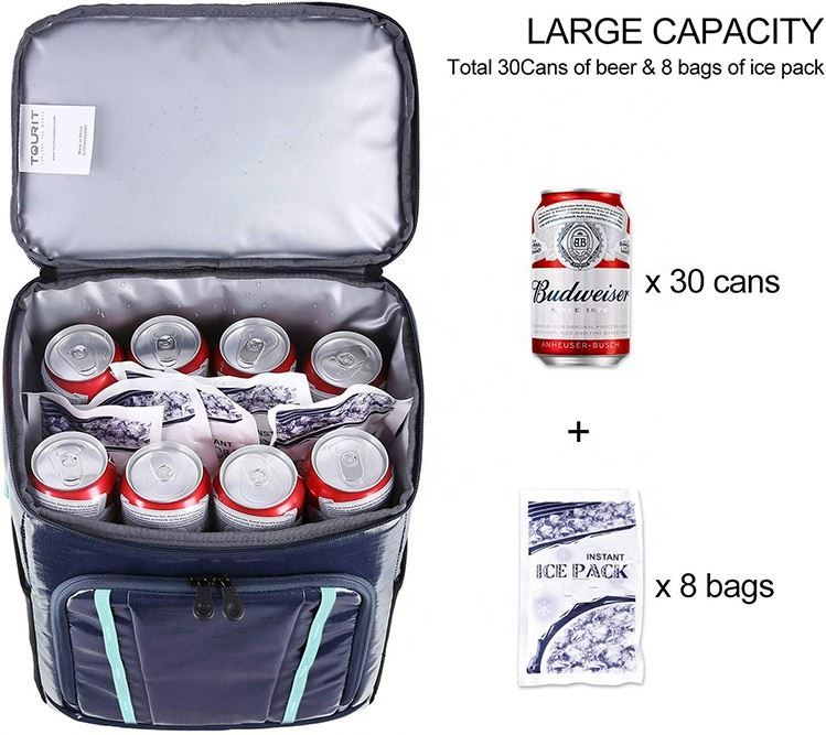 product-Osgoodway 30 can Beer Backpack Cooler Bag TPU Fabric Insulated Cooler Bag Backpack for Outdo-1