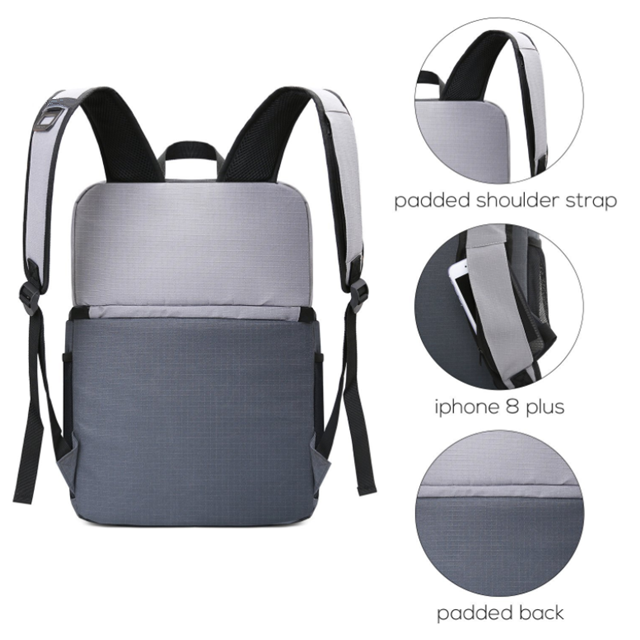 product-Osgoodway-Osgoodway Simple Style Lightweight Waterproof Double Layer Lunch Cooler Bag Backpa