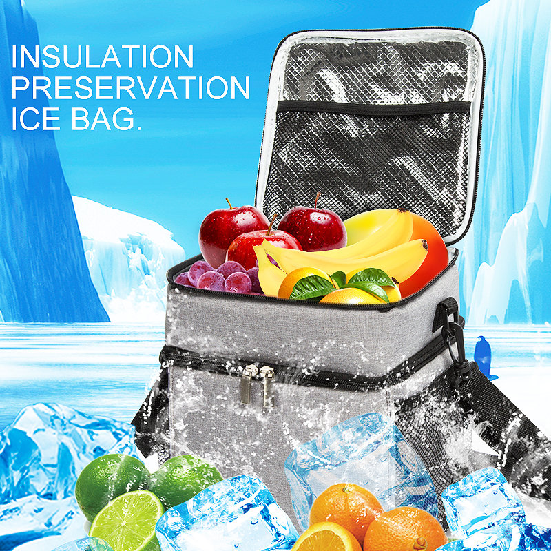 product-Osgoodway-Osgoodway1 China supplier Deluxe Dual Compartment Insulated Thermal Lunch Cooler B