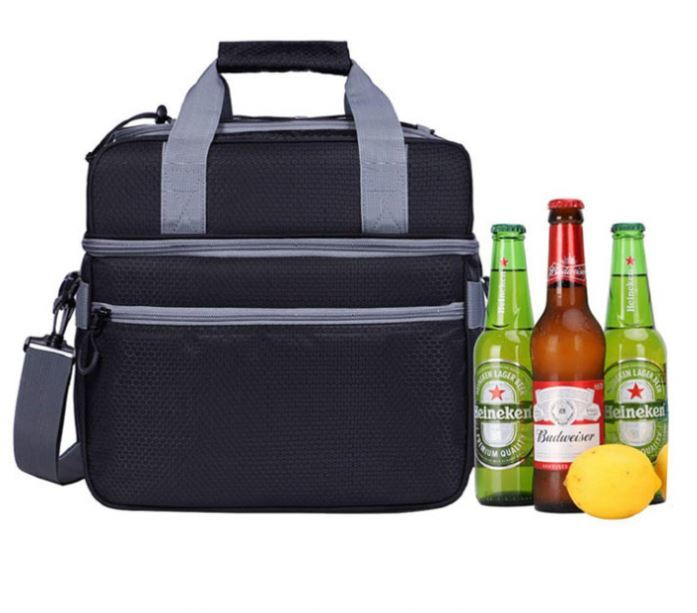 Osgoodway Double Layer Insulated Fitness Shoulder Lunch Cooler Bag