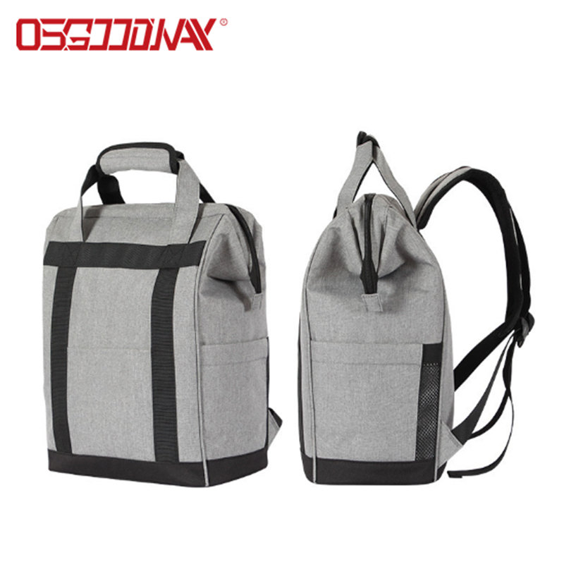product-Osgoodway Large Capacity Lightweight Insulated Opening Foldable Fashion Lunch Bag Backpack f-1