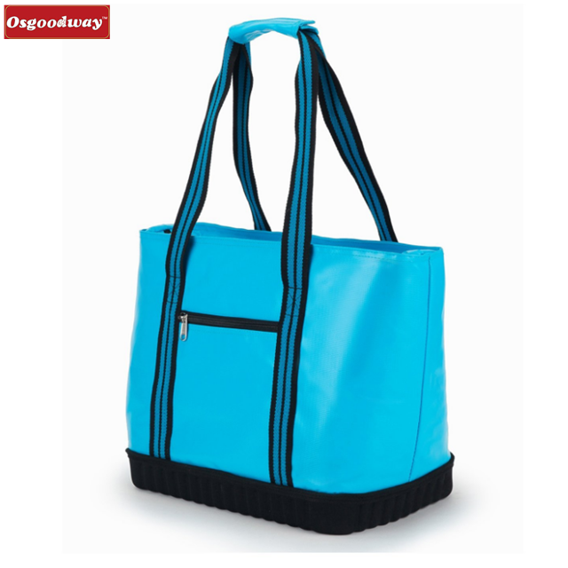 Osgoodway Large Insulated Waterproof Picnic Beach Canvas Cooler Tote Bag for Camping BBQ