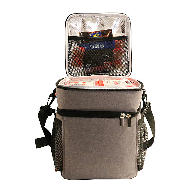Osgoodway1 China supplier Deluxe Dual Compartment Insulated Thermal Lunch Cooler BagFor BBQSchool Travel Outdoor
