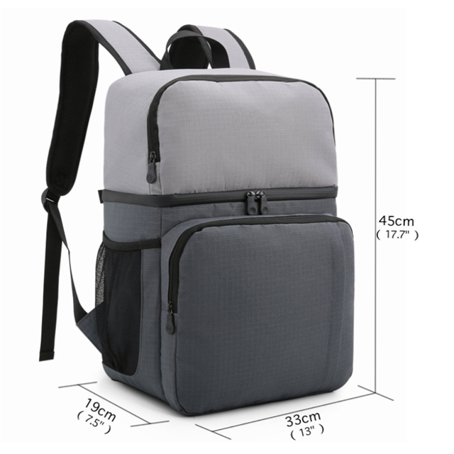 product-Osgoodway Simple Style Lightweight Waterproof Double Layer Lunch Cooler Bag Backpack for Tra-1