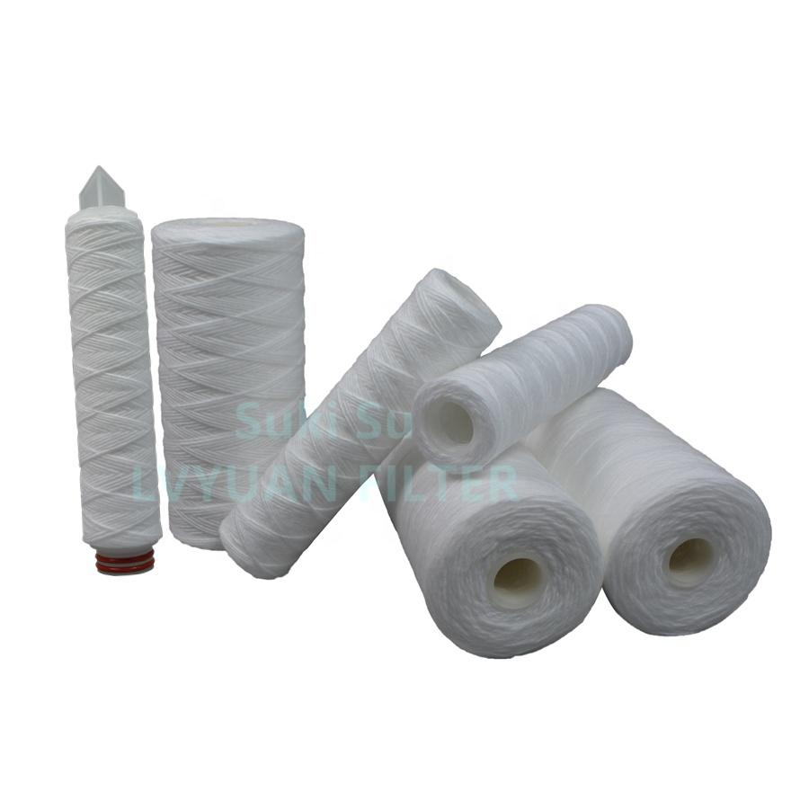 PP sediment pre filter fiberglass string wound /Pleated 40 inch 510 micron pp yarn filter cartridge