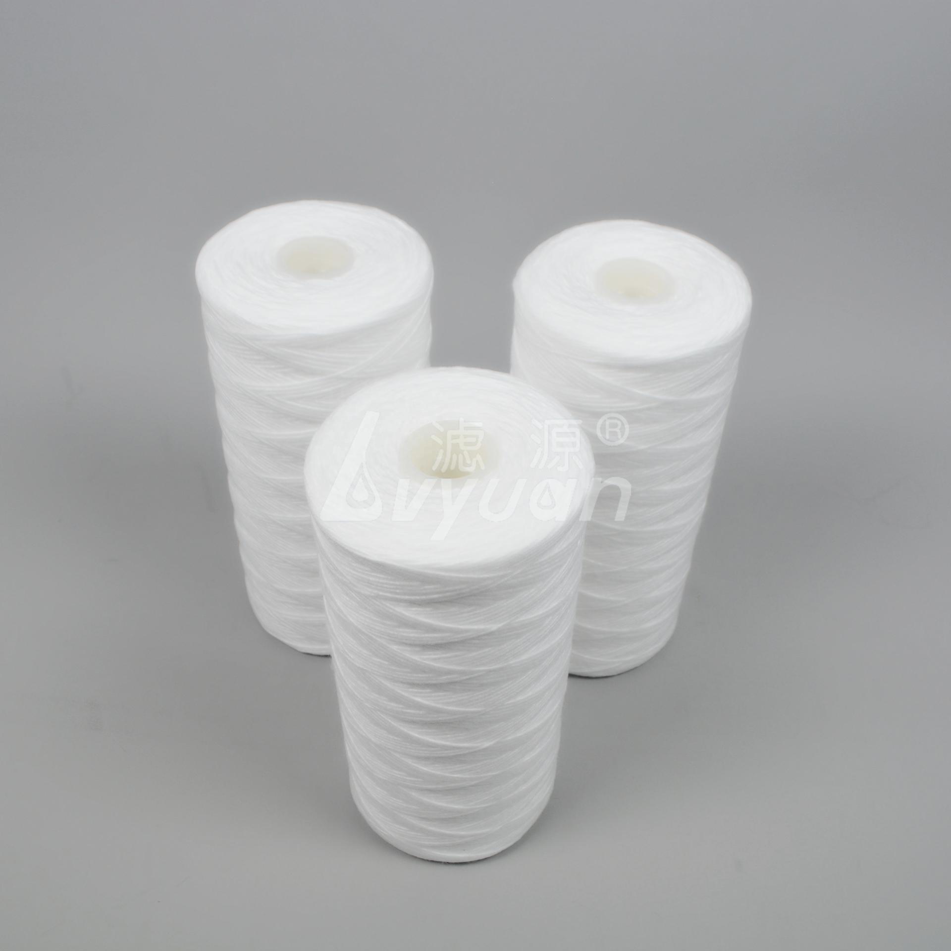 Jumbo 5 Micron Size 20 Inch X 4.5 Inch Sediment PP String Wound Water Cartridge spun yarn filter cartridge
