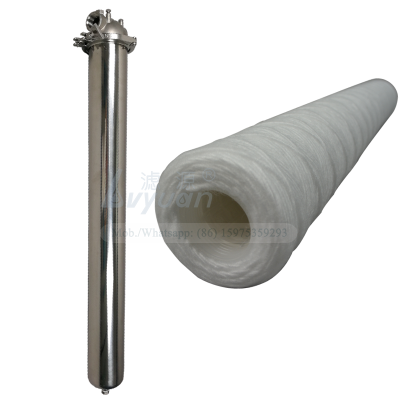 Polypropylene material water string candle filter 40 inch 5 micron pp yarn filter for 10/20/30/40/50/60 inch SS filter housing