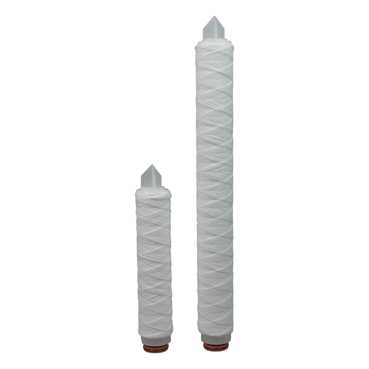 Polypropylene industrial water filter 10 20 30 40 50 inch pp string wound 5 micron water filter for sediment removal